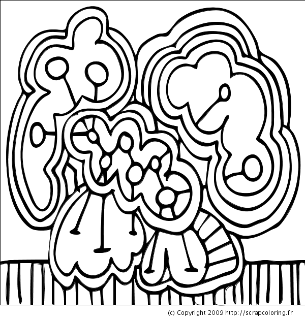 Converted to coloring page example