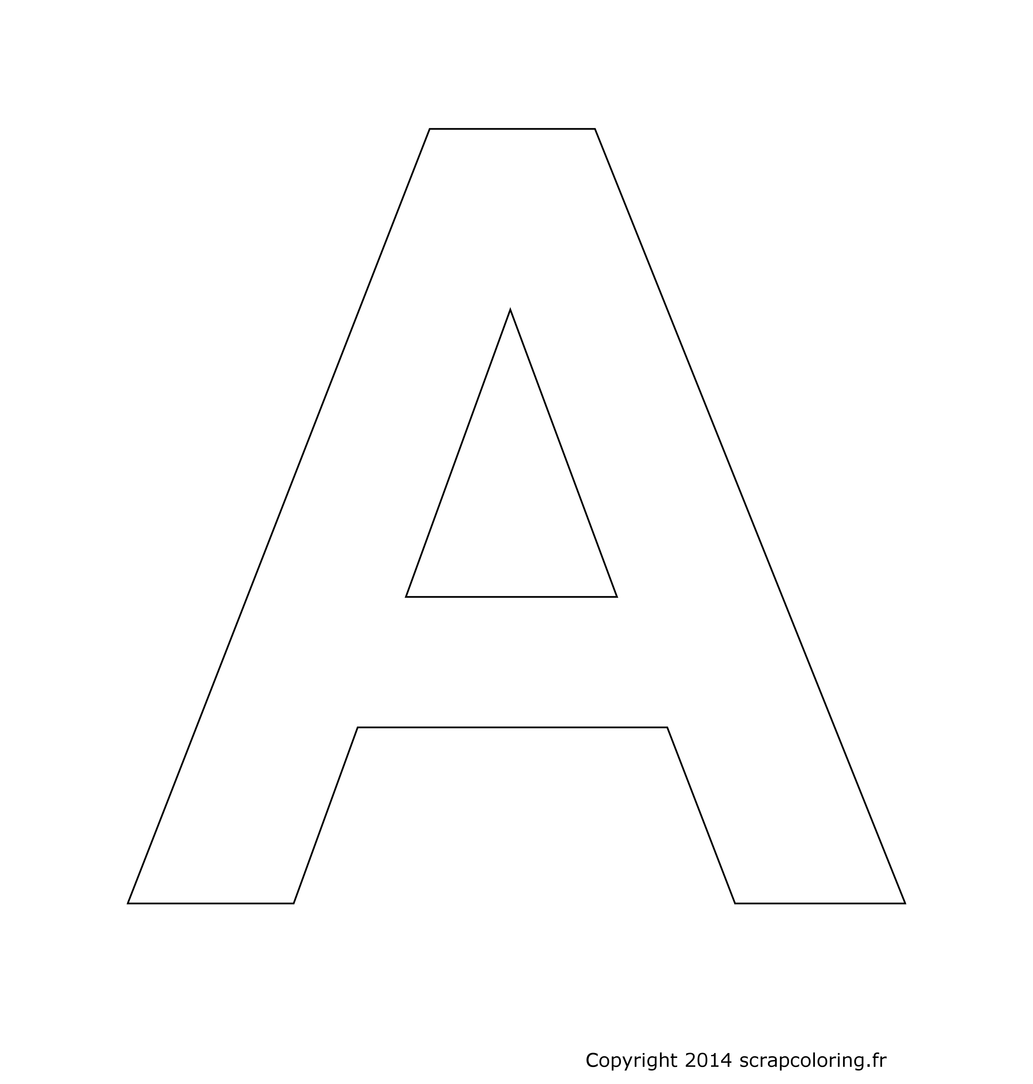 Coloriage Lettre A