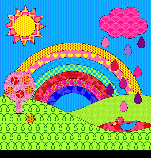 Coloriage Darc En Ciel En Ligne.Coloriage Arc En Ciel
