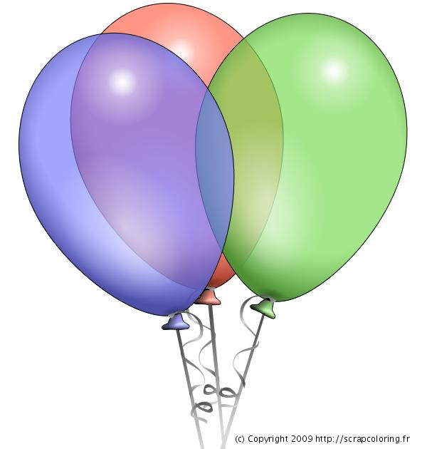 Coloriage Ballons