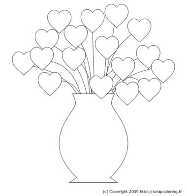 coloriage vase