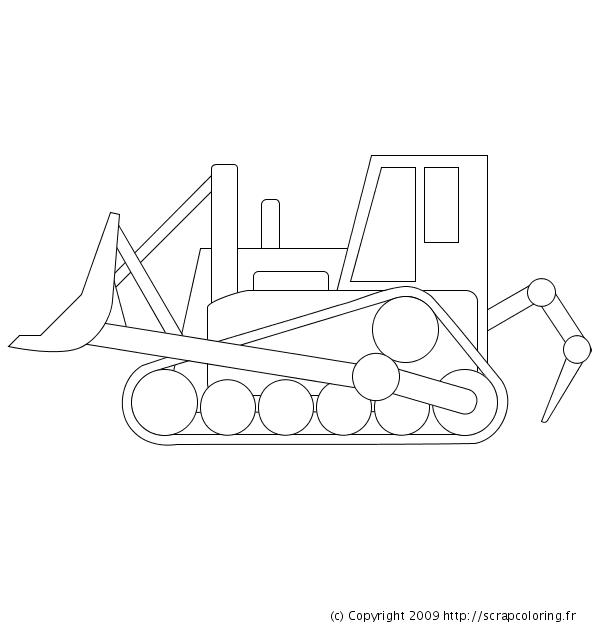Coloriage Bulldozer