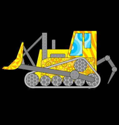 Bulldozer jaune