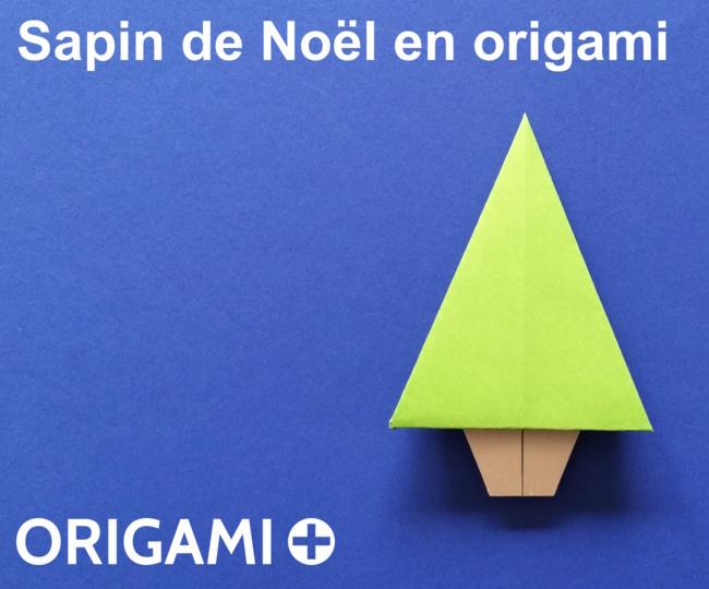 Sapin de Noël en origami