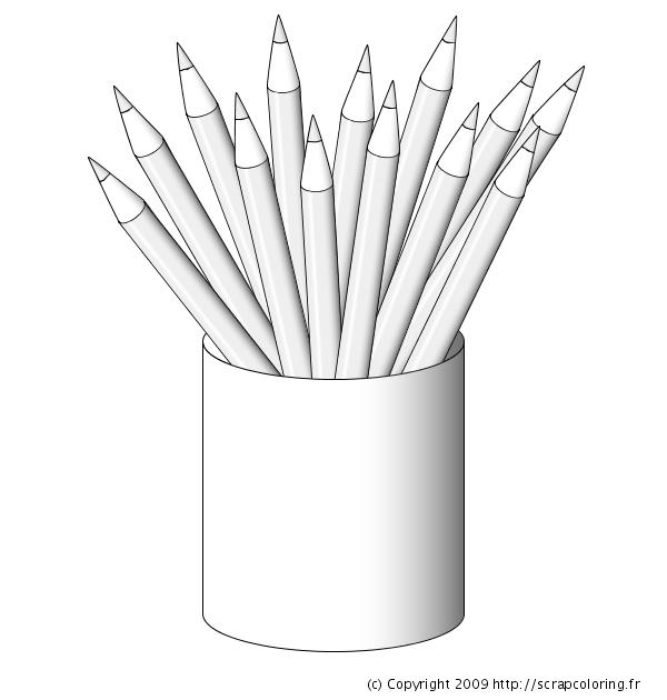 crayon de couleur a colorier. Black Bedroom Furniture Sets. Home Design Ideas