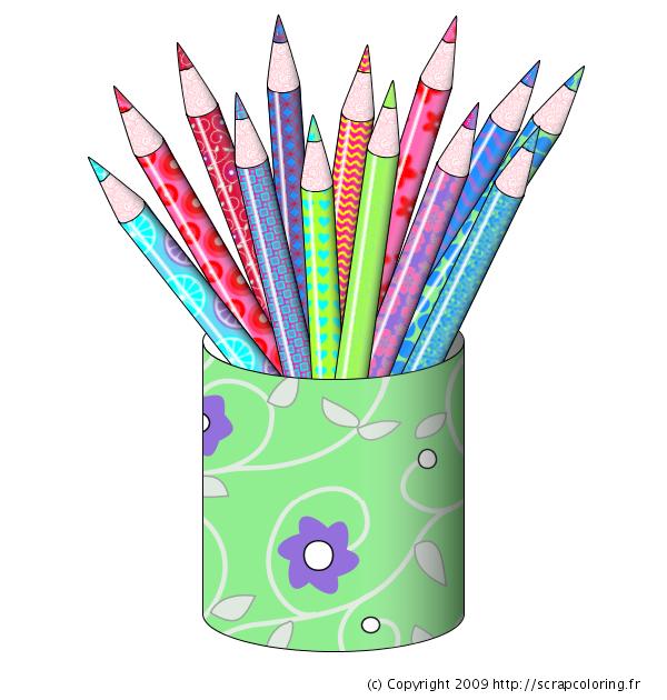 coloriage crayons de couleur. Black Bedroom Furniture Sets. Home Design Ideas