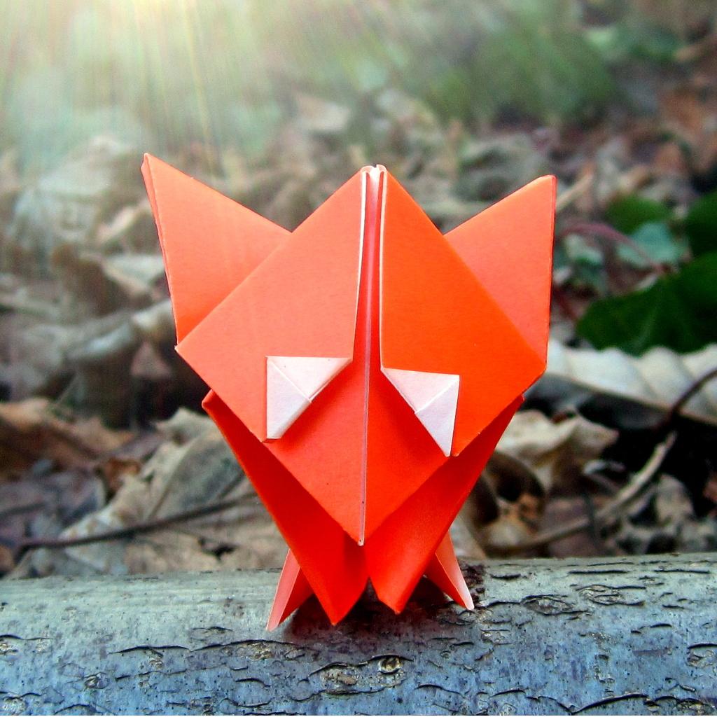 Un mignon petit renard en origami