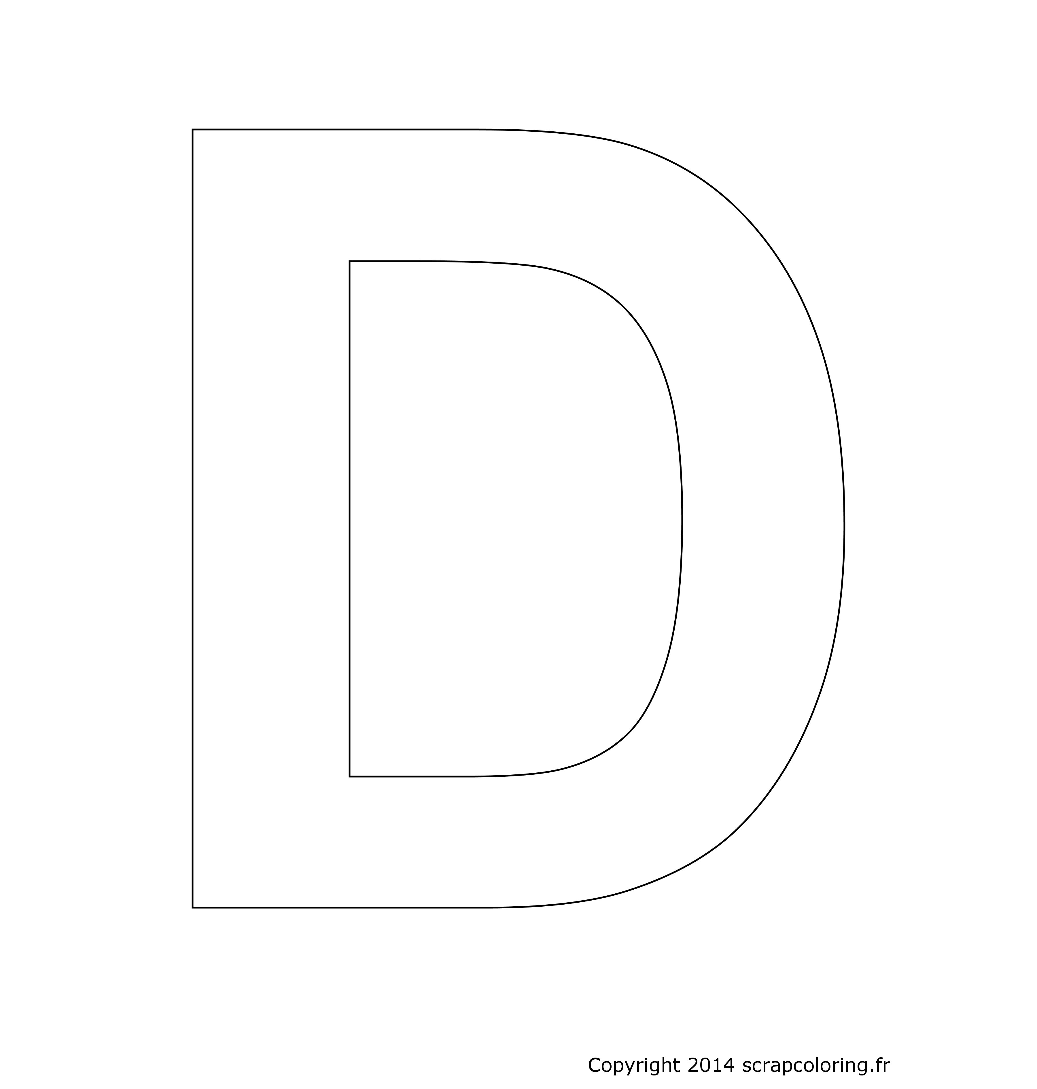 lettre d Coloriage Lettre D lettre d