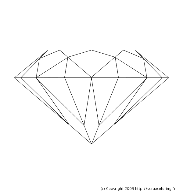 Diamond Shape Coloring Page #2