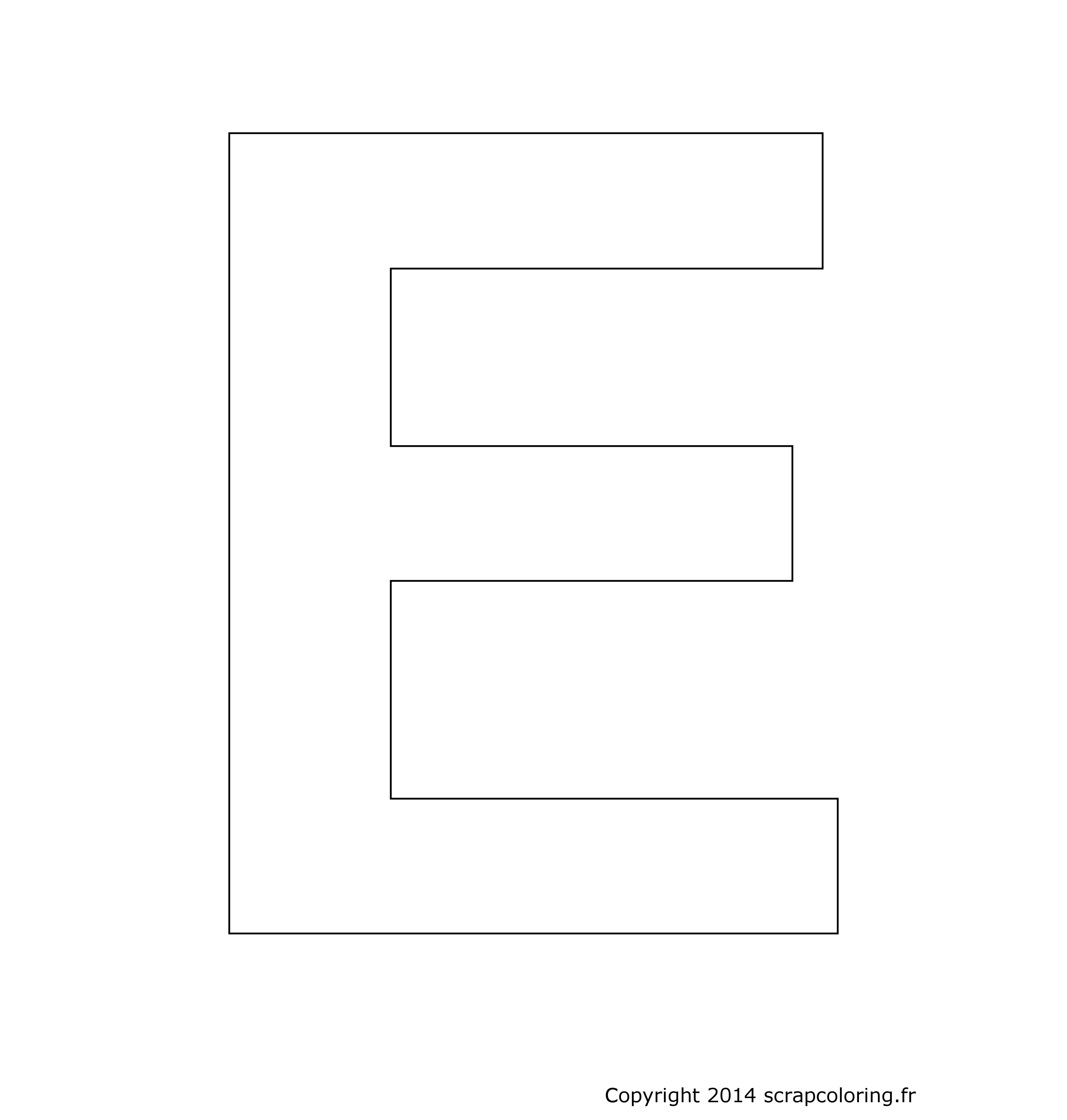 e lettre Coloriage Lettre E e lettre