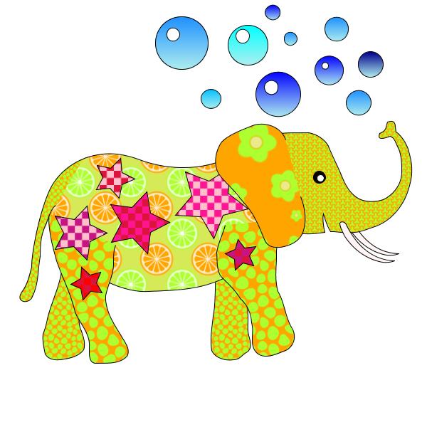 Coloriage Eléphant de Cirque