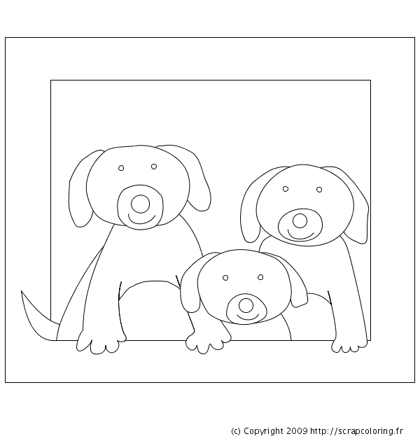 Coloriage Famille Animaux.Coloriage Famille Chien