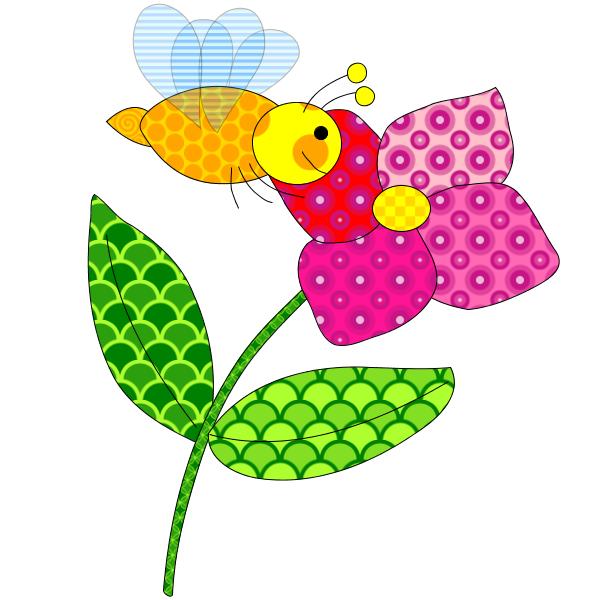 Coloriage Fleur Abeille.Coloriage Abeille Qui Butine Une Fleur