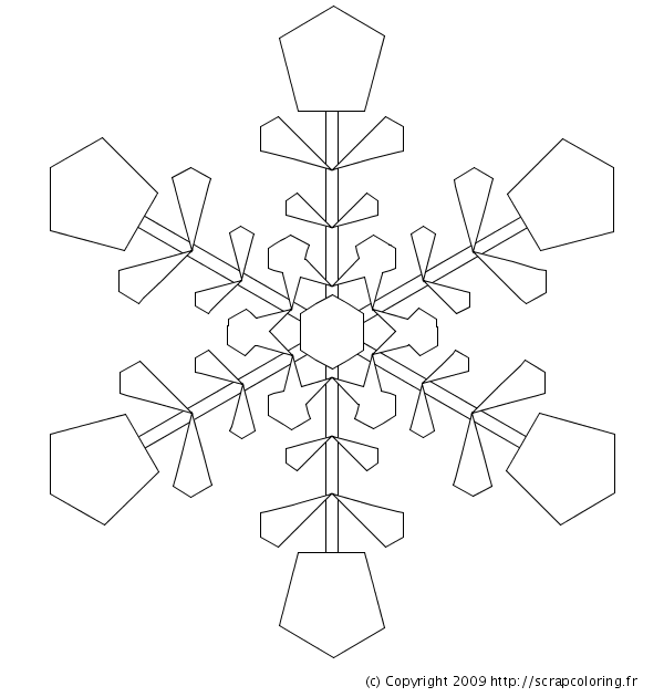 giant snowflakes coloring pages - photo#20