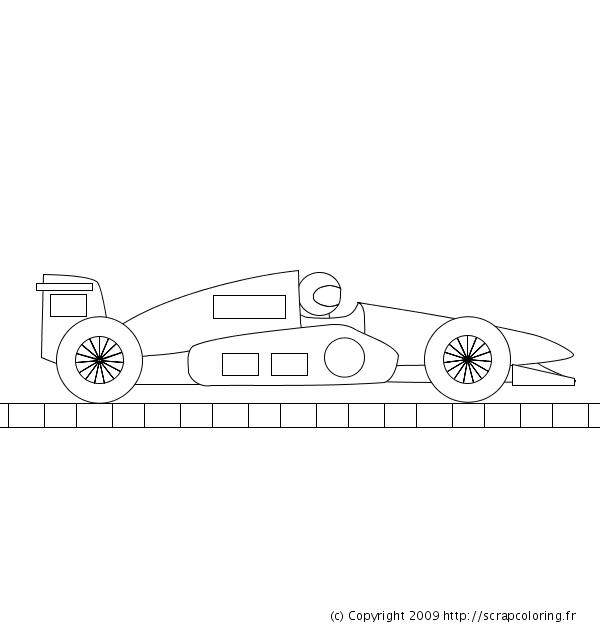 Coloriage Formule 1