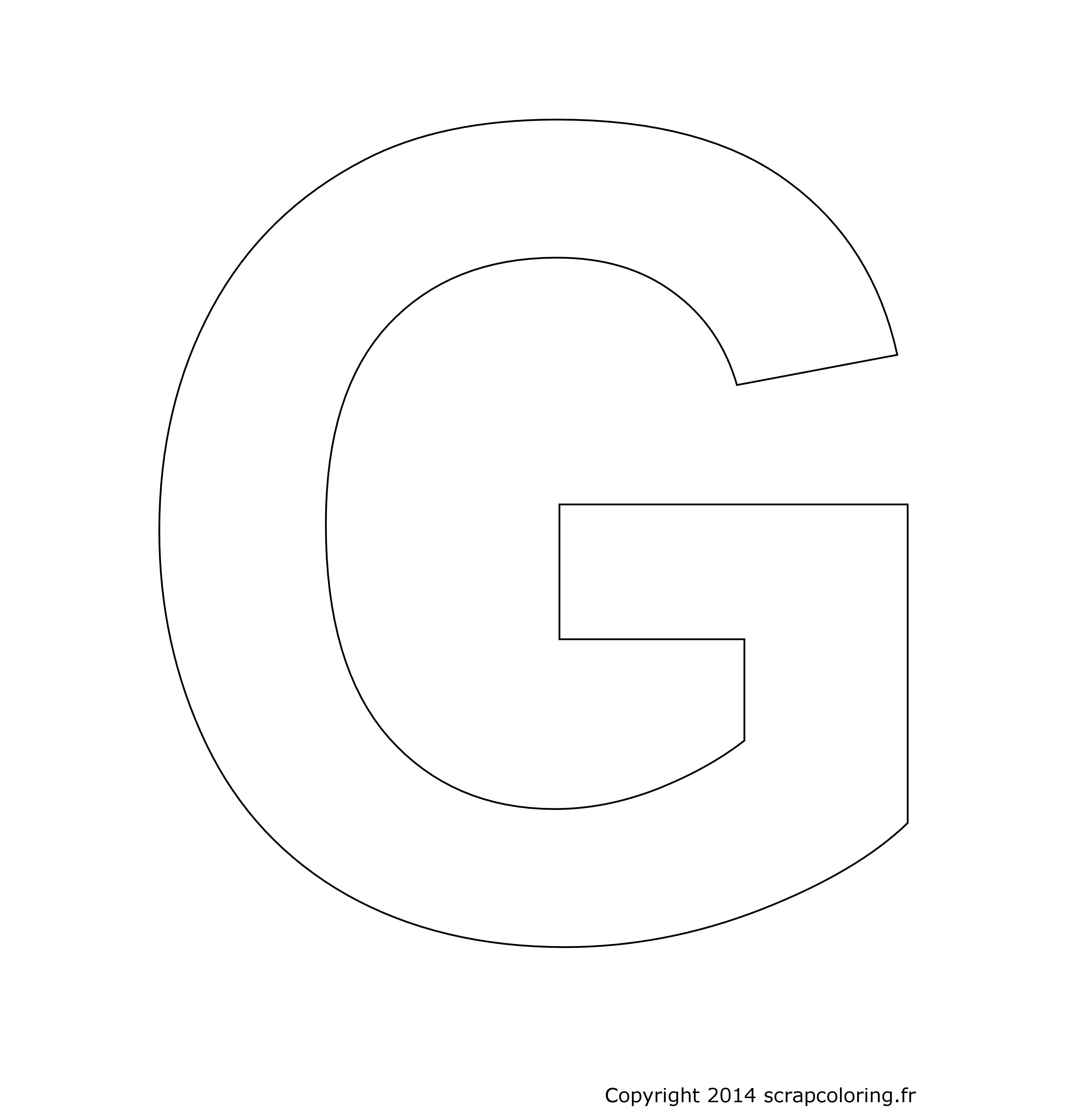 Coloriage Lettre G