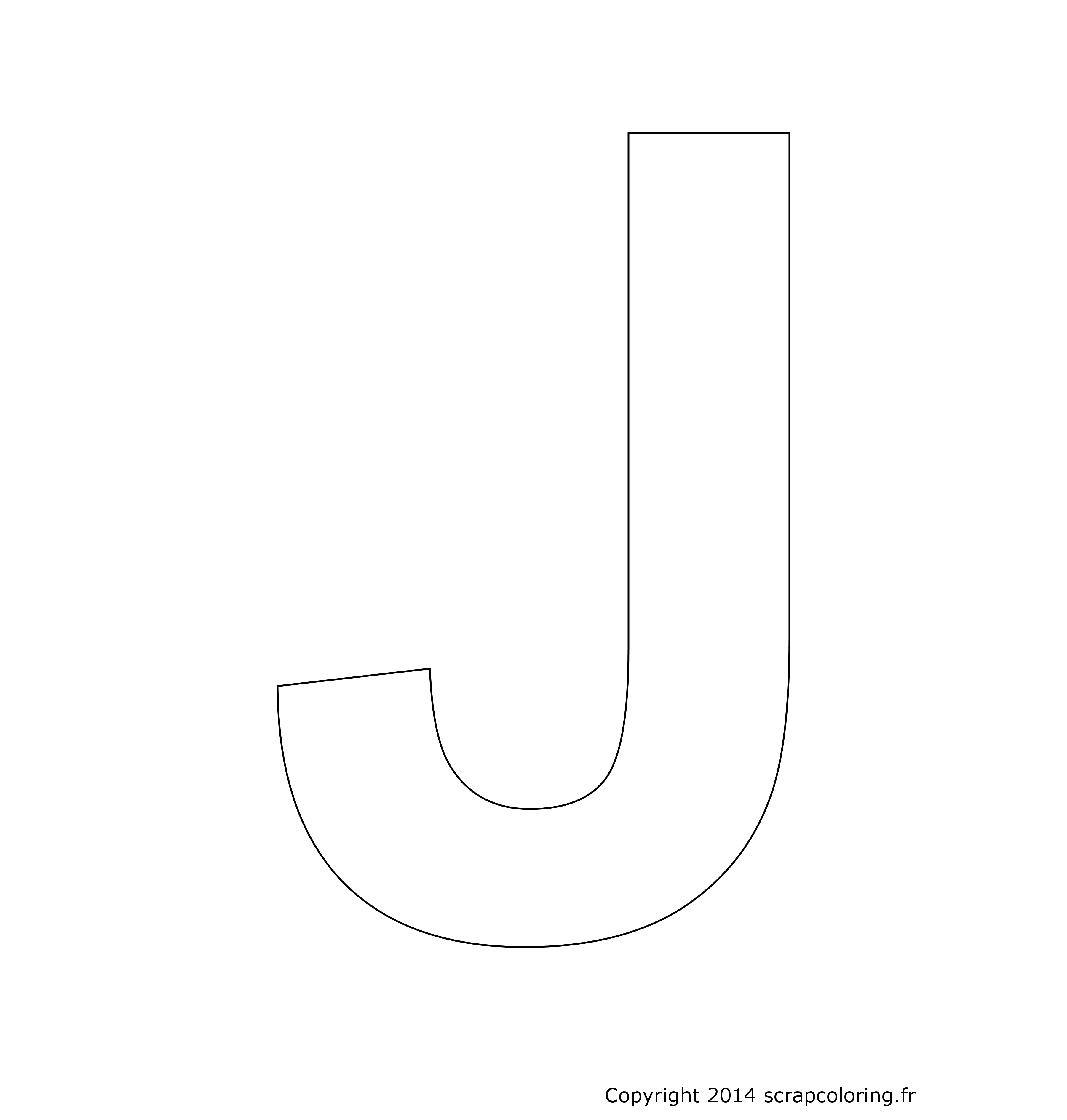 coloriage lettre j