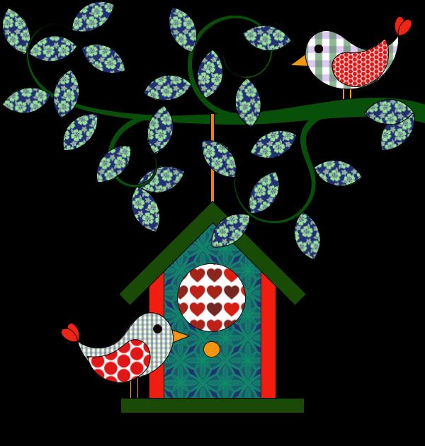 Coloriage Oiseau Sur Arbre.Coloriage Nichoir Maison Pour Oiseaux