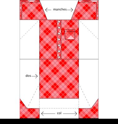 Modèle chemise origami couleur