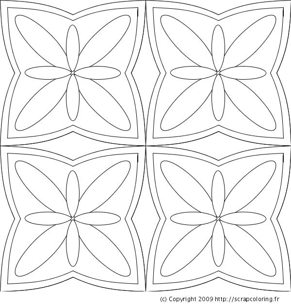 Dessins formes geometriques - Coloriage fleur geometrique ...