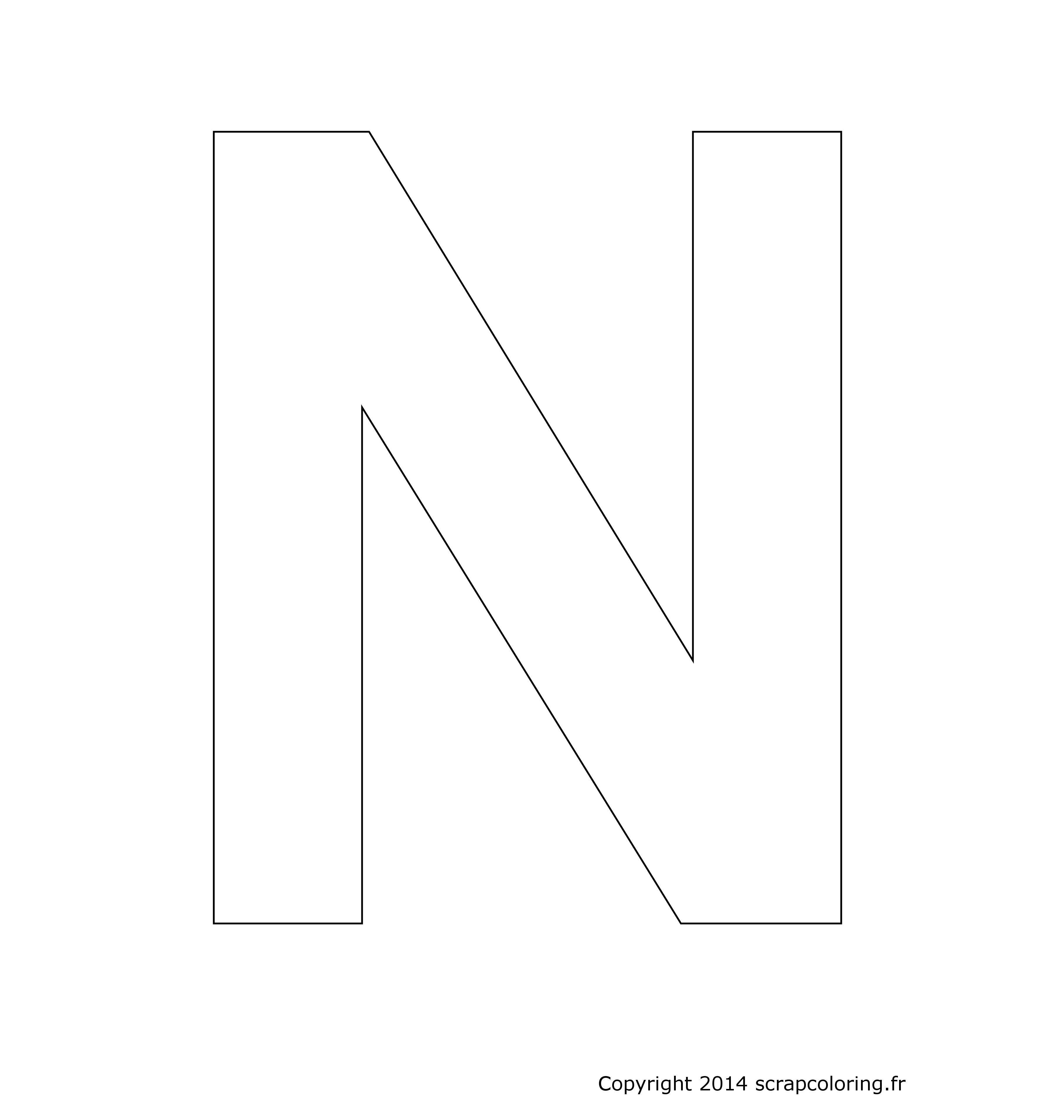 Coloriage lettre n - Coloriage lettre a ...