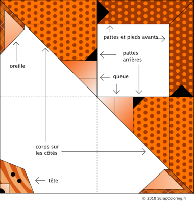 Modèle Origami Renard