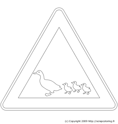 coloriage panneau kangourou