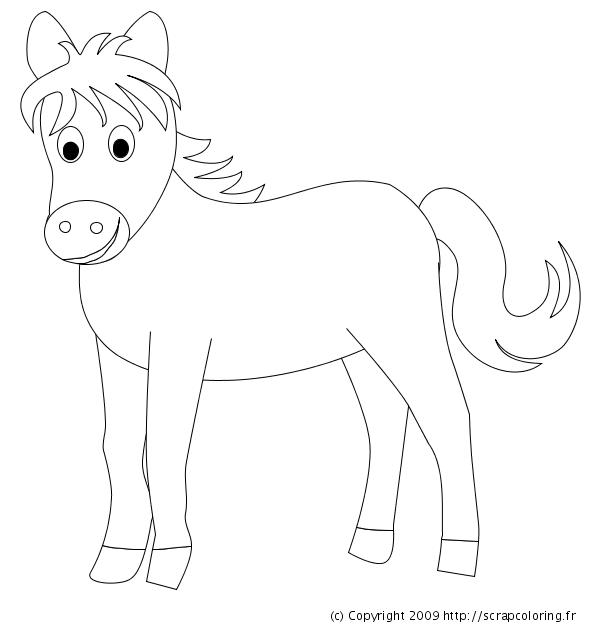 Coloriage Poney