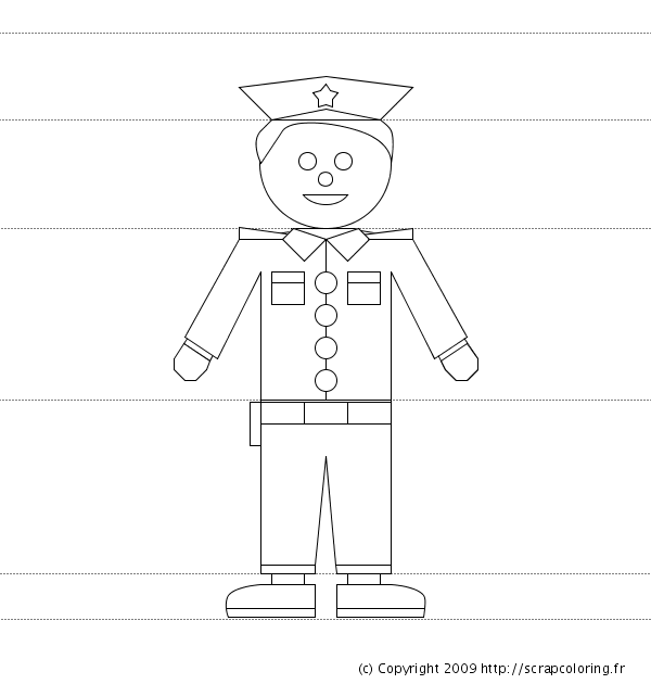 Printable Paper Doll Uniform for Police