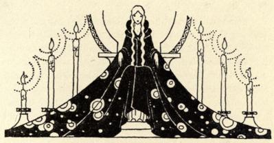 Princesse Rosette avec une très longue robe