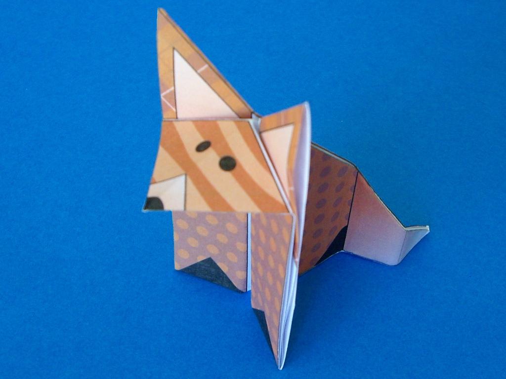 Coloriage Renard En Origami