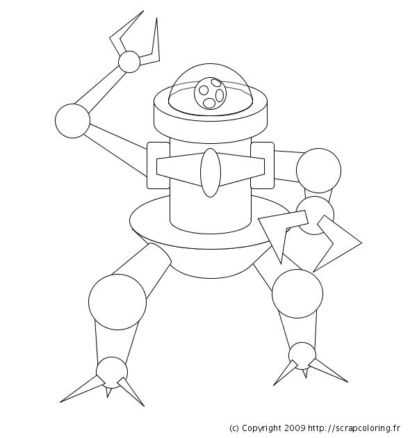 Coloriage Robot Fille.Coloriage Robot Guerrier