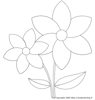 Coloriage pot de fleurs - Dessiner un vase ...