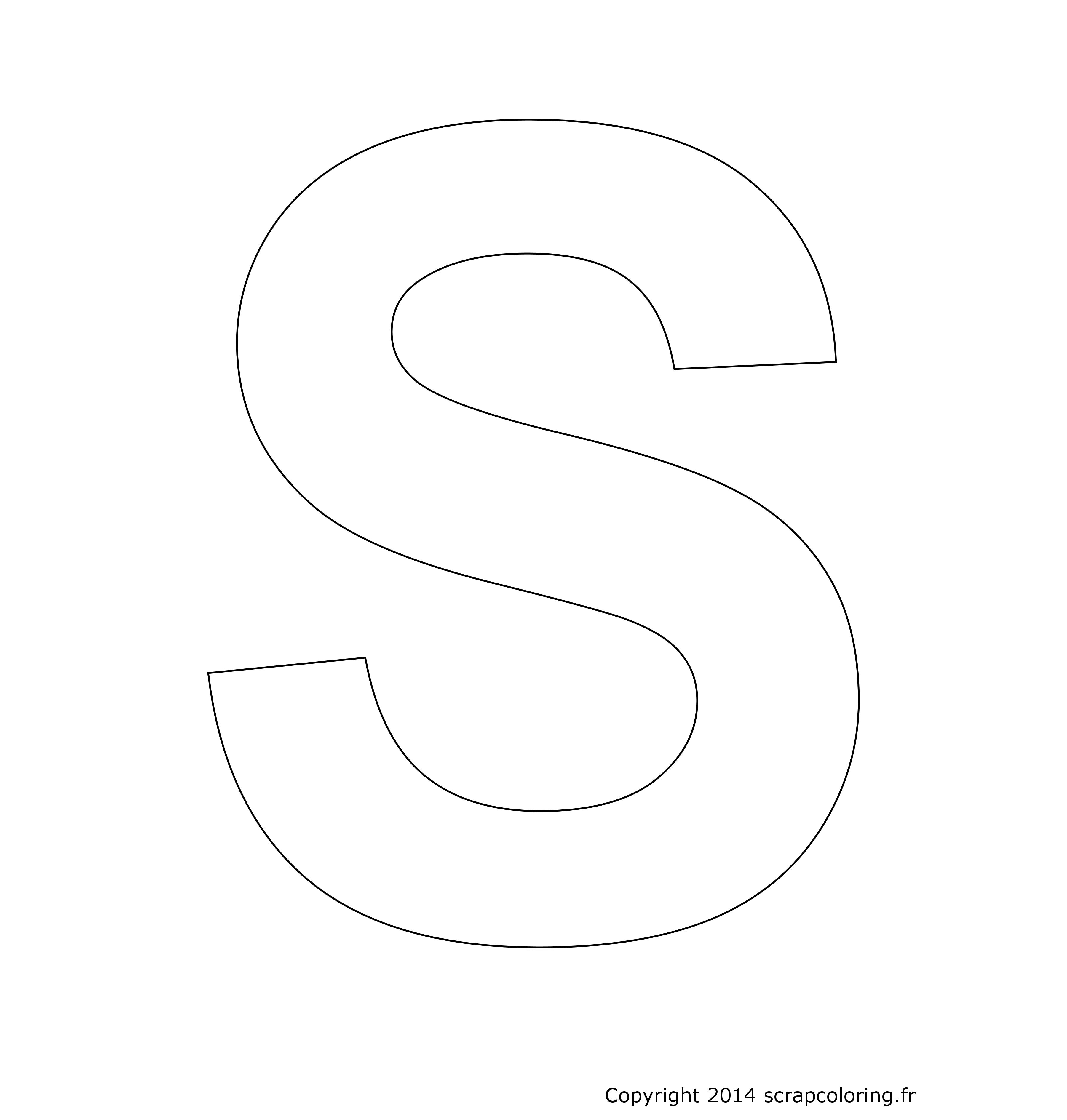 coloriage lettre s