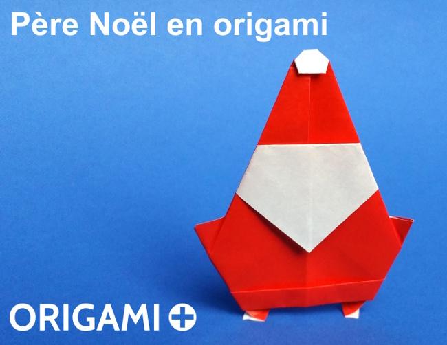 Père Noël en origami