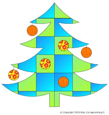 Sapin de Noël en quilt