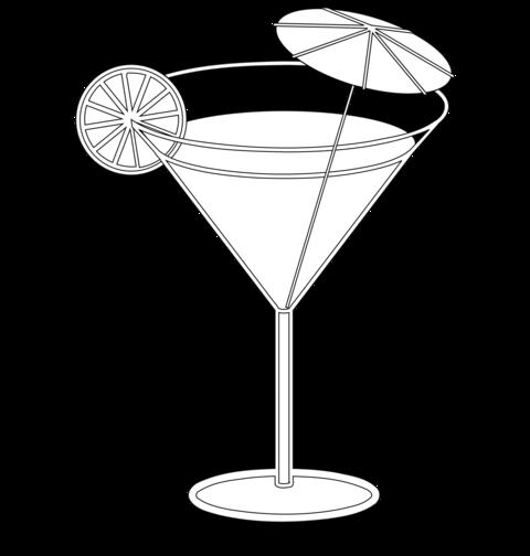 Bien connu Coloriage Cocktail, tranche de citron et ombrelle RX67