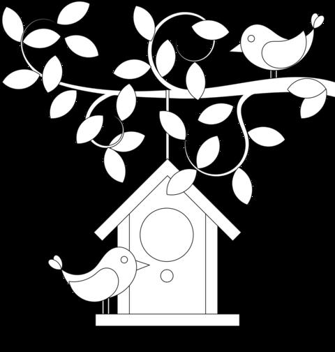 Coloriage nichoir maison pour oiseaux - Coloriage niche ...