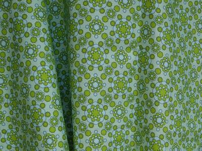 Tissu Dahlia bleu et vert