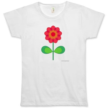 t-shirt coton bio fleur