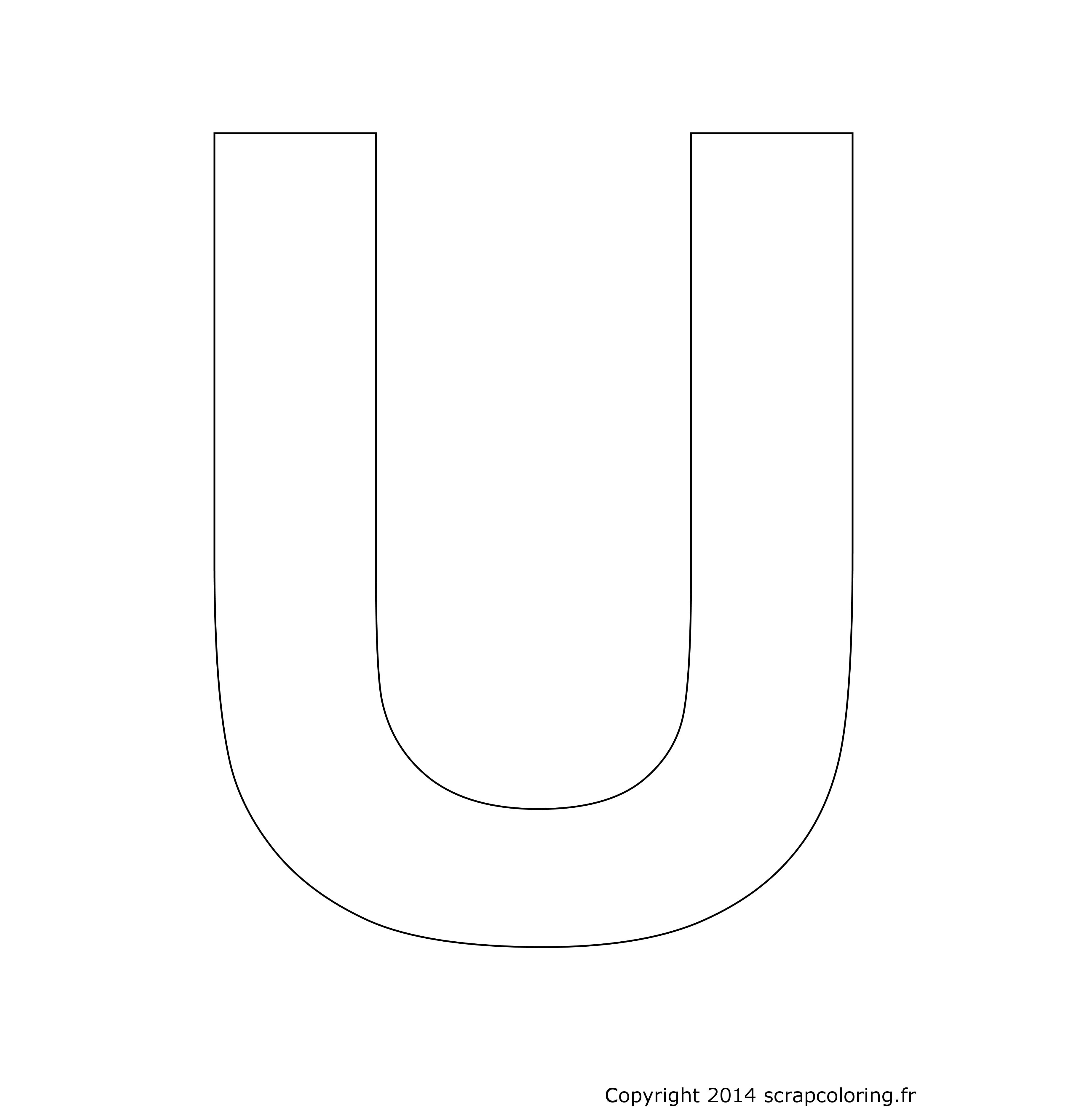 coloriage lettre u