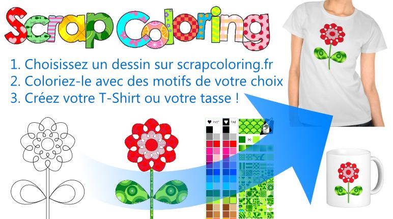 Coloriez votre TShirt avec des motifs!