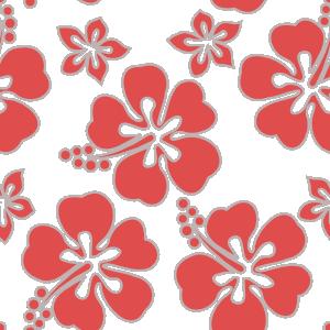 Motif Hawaien Fleurs D Hibiscus Et Plumeria